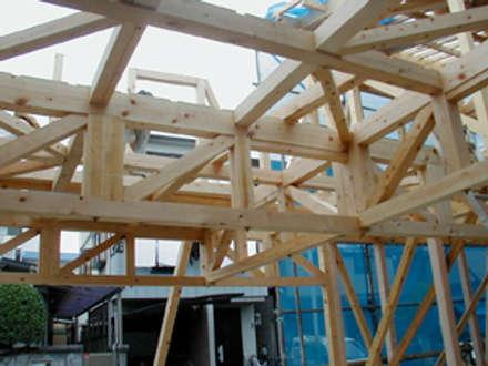 木製ハイデッキ: 木造トラス研究所・株式会社 合掌が手掛けた家です。