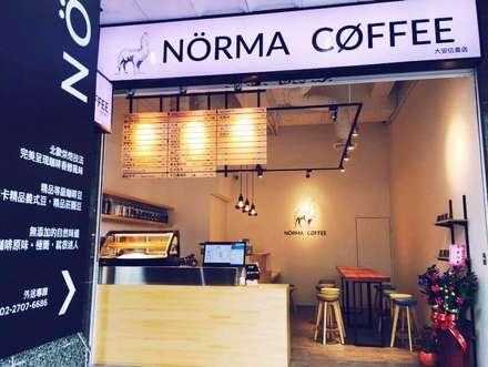 諾馬連鎖咖啡廳 信義店:  房子 by 捷士空間設計