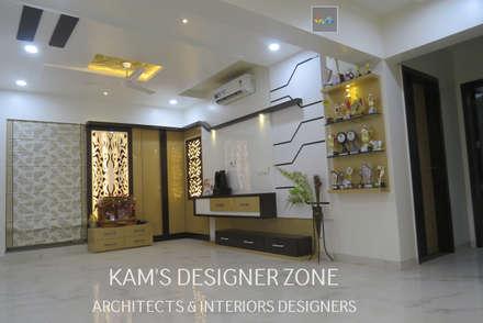 Home Interior Design for PREETI AGARWAL:  Walls by KAM'S DESIGNER ZONE