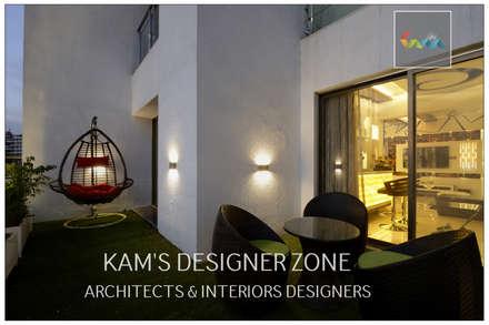 modern Corridor, hallway & stairs by KAM'S DESIGNER ZONE