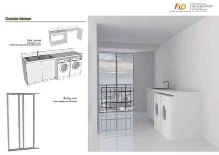 The Oleander Condo:  ห้องครัว by Future Interior Design Co.,Ltd.