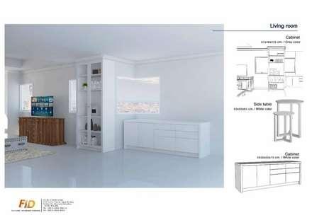 The Oleander Condo:  ห้องนั่งเล่น by Future Interior Design Co.,Ltd.