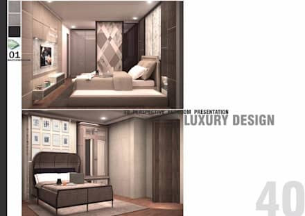 THE ROOM SUKHUMVIT 69 (STYLE LUXURY):  ห้องนอน by Future Interior Design Co.,Ltd.