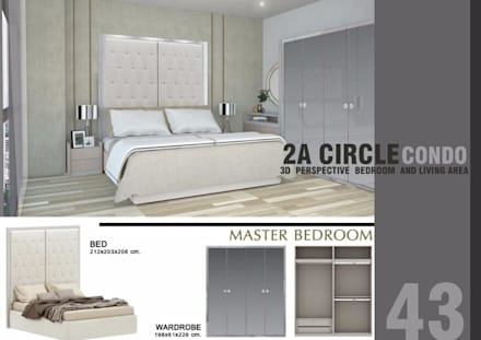 CIRCLE 2 (STYLE LUXURY):  ห้องนอน by Future Interior Design Co.,Ltd.