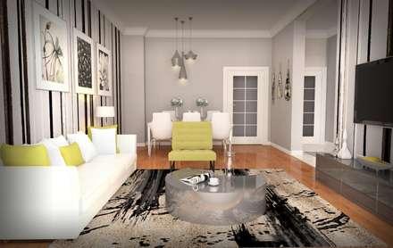 GEKADESIGN – BGC Yunuseli Toki / Bursa: modern tarz Oturma Odası