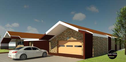 Modern Take on Traditional: Garagens e arrecadações rústicas por André Terleira - Arquitectura e Construção