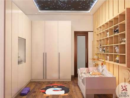 KIDS ROOM - VIEW 1: minimalistic Nursery/kid's room by MAD DESIGN