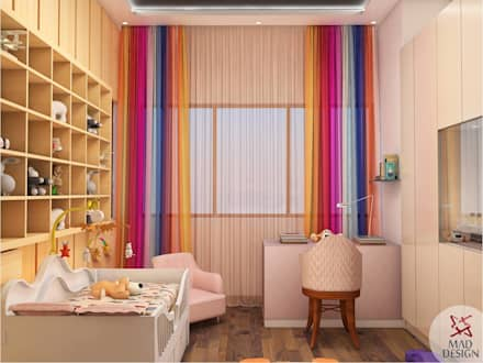 KIDS ROOM - VIEW 2: minimalistic Nursery/kid's room by MAD DESIGN