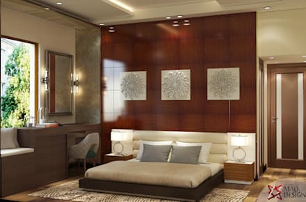 MASTER BEDROOM VIEW 1: minimalistic Bedroom by MAD DESIGN