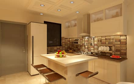 MINIMALIST MODULAR KITCHEN: minimalistic Kitchen by MAD DESIGN