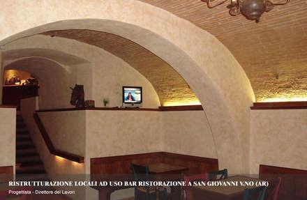 Brancaleone Ristobar: Bar & Club in stile  di Simone Casini Architetto
