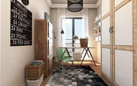 GEKADESIGN – Altıntepe Tunapark / İstanbul: modern tarz Giyinme Odası