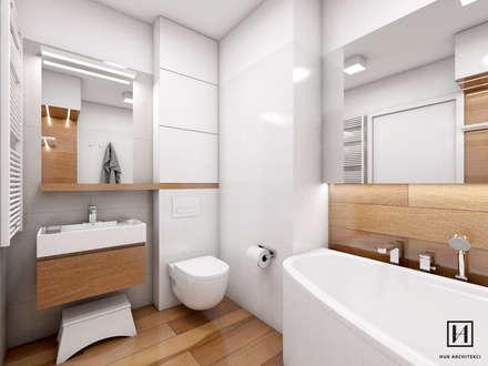 Mieszkanie, Mistrzejowice / Kraków : styl , w kategorii Łazienka zaprojektowany przez Huk Architekci