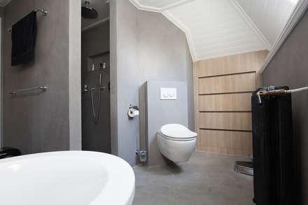 Badkamer ontwerp & Realisatie: landelijke Badkamer door Mignon van de Bunt Interieurontwerp, Styling & Realisatie
