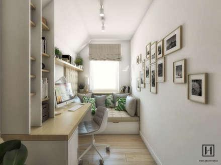 scandinavian Study/office by Huk Architekci