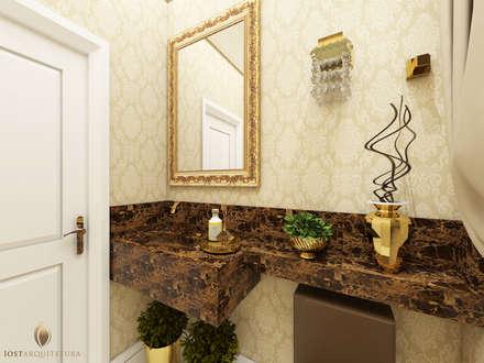 Lavabo Luxo: Banheiros clássicos por iost arquitetura