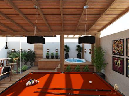 Espaço Gourmet Rústico: Jardins rústicos por iost arquitetura
