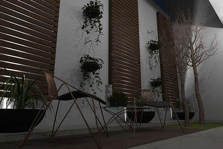 JARDIN DE NOCHE : Jardines de estilo moderno por Residenza by Diego Bibbiani