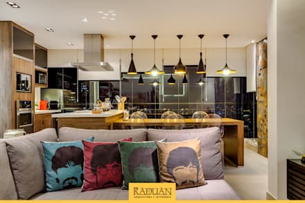 Sacada Gourmet: Terraços  por Raduan Arquitetura e Interiores
