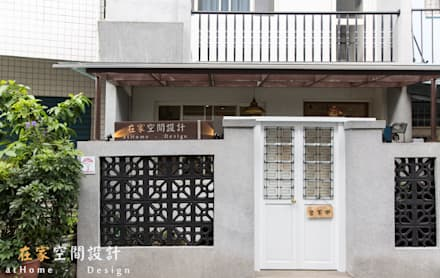 Oficinas y Tiendas de estilo  por 在家空間設計