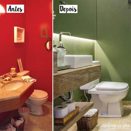 Antes e Depois - Lavabo : Banheiros modernos por Danyela Corrêa Arquitetura
