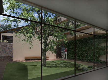 Hotel Resort y Spa 5 estrellas Cerro Dorado: Jardines de invierno de estilo mediterraneo por Development Architectural group