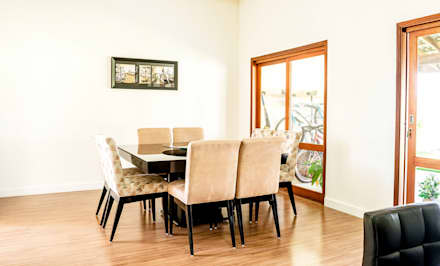 ARQUITETURA RESIDENCIAL JUNDIAÍ RESERVA DA SERRA: Salas de jantar modernas por Aresto Arquitetura