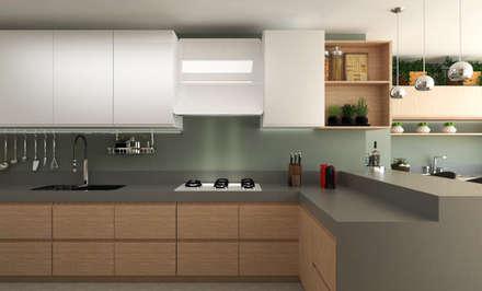 DESIGN DE INTERIORES APARTAMENTO GRAND GARDEN JUNDIAÍ: Cozinhas minimalistas por Aresto Arquitetura
