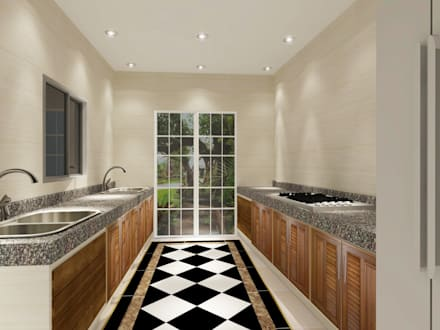 Kitchen 3D Design #8:  ห้องครัว by SIAMTAK CO., LTD.