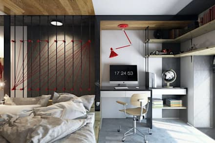 North Point Residential: modern Bedroom by CLOUD9 DESIGN