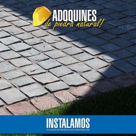 Adoquín piedra natural: Jardines de estilo mediterraneo por Instalamos.cl