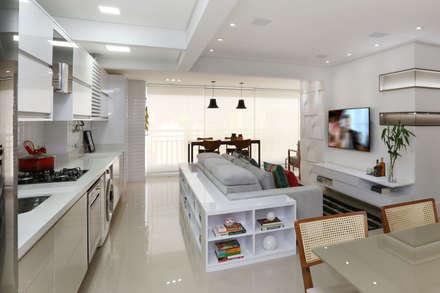 Apartamento Tatuapé - SP: Salas de estar modernas por Antonio Armando Arquitetura & Construção