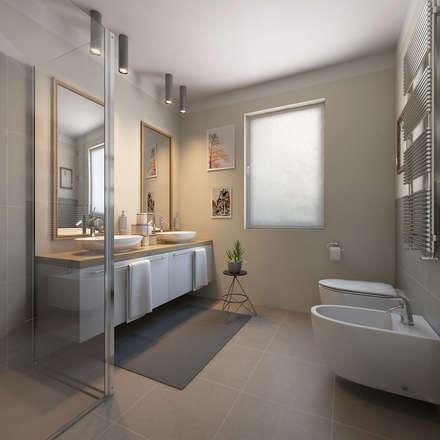 Bagno moderno idee ispirazioni homify for Progetti bagni moderni