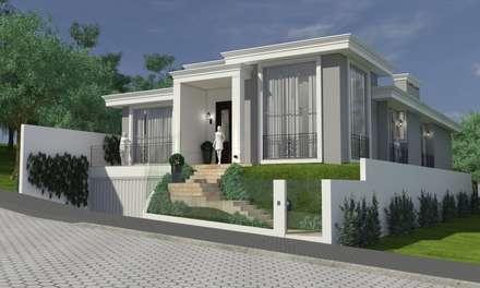 Fachada: Casas clássicas por Atelier de Arquitetura Arquitetas Bianca e Bárbara Lehmkuhl