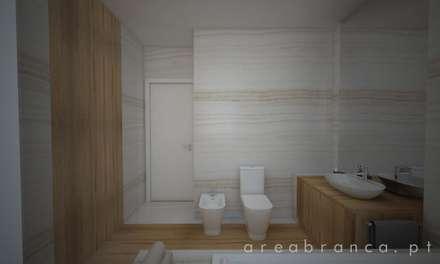 WC Suite Principal : Casas de banho modernas por Areabranca