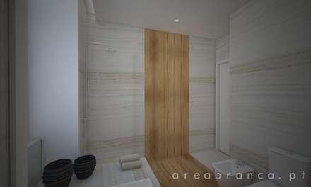 WC Suite Principal: Casas de banho modernas por Areabranca