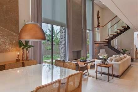 Projeto de Interiores - Barão: Salas de jantar modernas por Del Nero Da Fonte Arquitetura