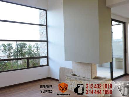 CASA CANELON: Salas de estilo moderno por DG ARQUITECTURA COLOMBIA