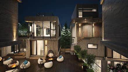 羊灣hospitality:  房子 by 禾御建築室內設計有限公司