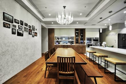 奢華鄉村:  餐廳 by 禾御建築室內設計有限公司
