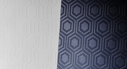 Anaglypta : Espaços comerciais  por House Frame Wallpaper & Fabrics