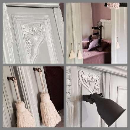 Chambre 'Campagne chic': Chambre de style de style Rustique par Premières Perspectives