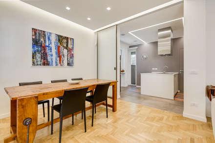 Farnesina | minimal design: Sala da pranzo in stile in stile Minimalista di EF_Archidesign