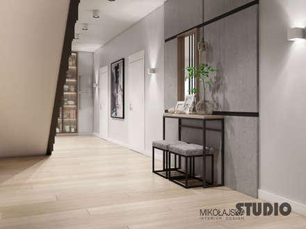 pomysł na hall: styl , w kategorii Korytarz, przedpokój i schody zaprojektowany przez MIKOŁAJSKAstudio