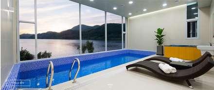 청평 풀 빌라 리버웨이브 : 모린홈의  수영장