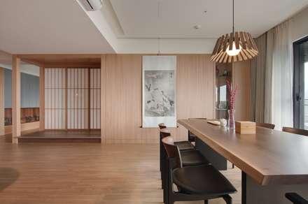 北投陳宅:  餐廳 by 直方設計有限公司