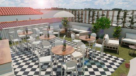 Terraza en Sevilla: Hoteles de estilo  de VICTORIA MARQUEZ