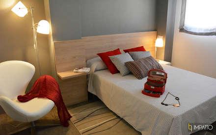 INTERIORISMO: estilo vintage/industrial en Juan Llorens, Valencia: Dormitorios de estilo industrial de IMPATTO
