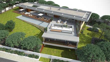 Moradia em Lagos: Habitações  por Areacor, Projectos e Interiores Lda