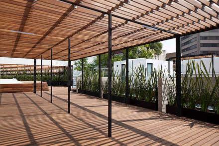 CBZ 30 Condesa- Ciudad de México:  Corridor & hallway by Hb/arq